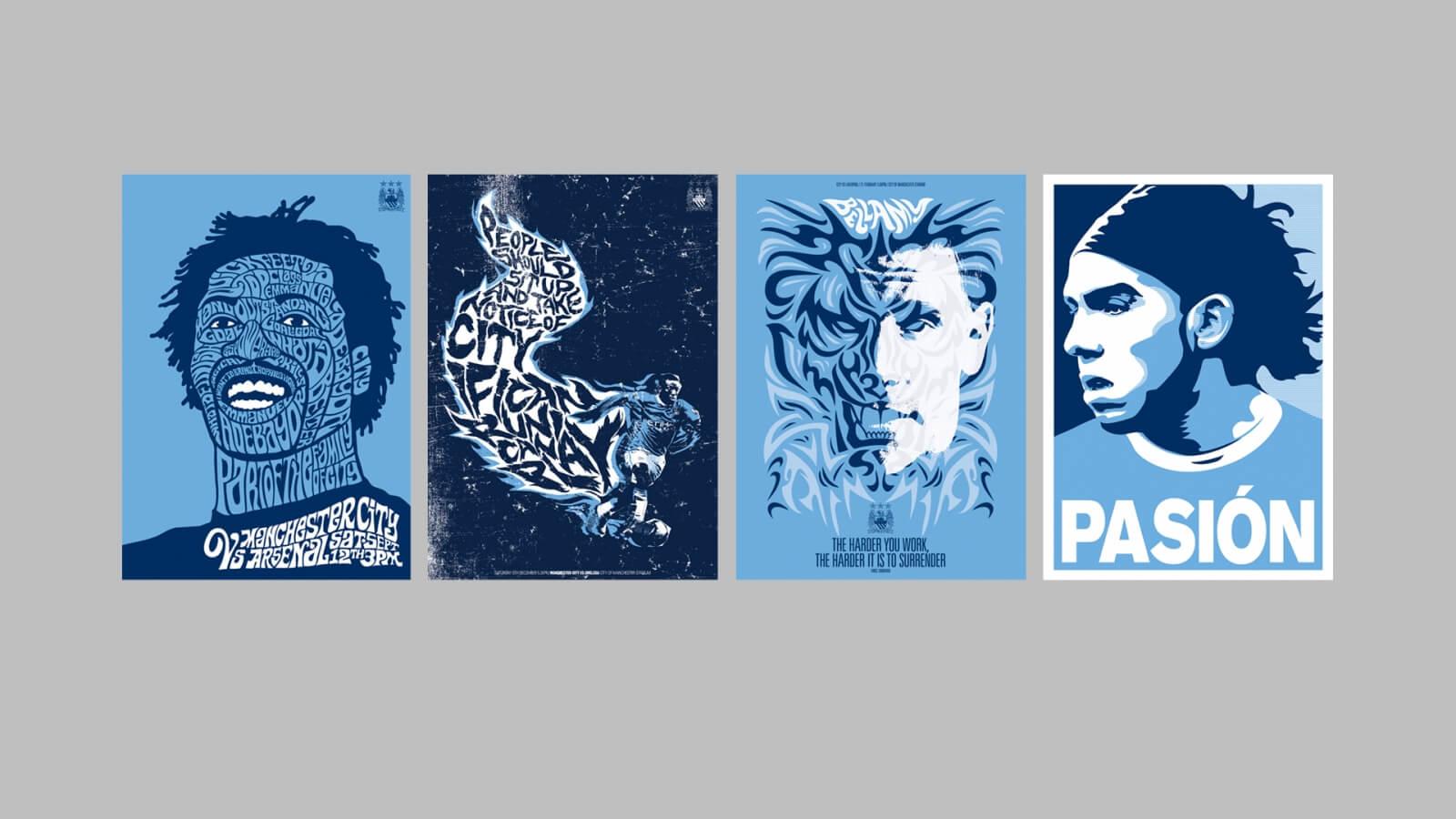 01 MCFC Big Four Posters Shepherd Fairey